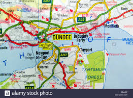 Road Map Of Scotland Road Map Of Dundee Scotland Stock Photo Royalty Free Image