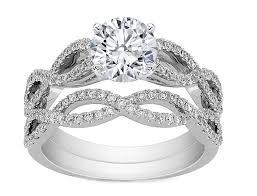 infinity wedding rings infinity bridal set engagement ring matching wedding ring