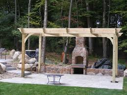 Pergola With Fire Pit by Fire Pits U0026 Outdoor Fireplace Contractor Pinewood Landscaping