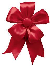 caspari solid christmas ribbon bow