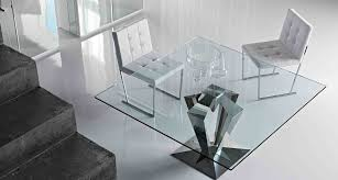 Square Glass Dining Table 18 Square Glass Top Dining Tables Designs Ideas Plans Design