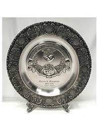 50th anniversary plates you can engrave german anniversary plate 50th german toasting glasses