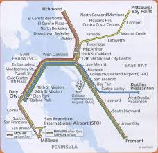 Sf Bart Map Bart Map High Quality Maps Of Bart