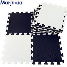 tappeti ad incastro bianco nero nuovo 10 pz nero tappetini in schiuma ad incastro