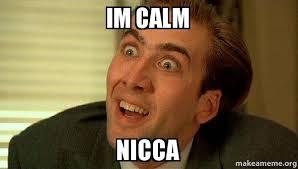 Calm Meme - im calm nicca sarcastic nicholas cage make a meme