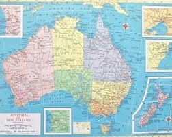 atlas map of australia 1937 australia map large antique map beautiful map