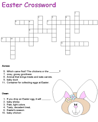 easter crossword puzzles