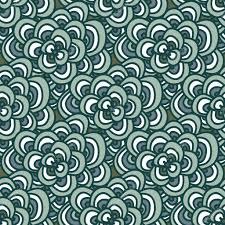 Muster Blau Grün Gekritzel Einfaches Florales Muster Im Winter Blau Gr禺n T禧ne