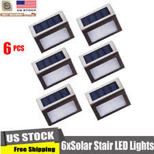 stainless steel stairs steps lights with solar sensor ebay