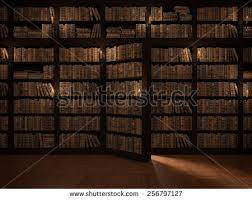 Secret Door Bookcase Secret Door Bookcase Mysterious Library Gaining Stock Illustration