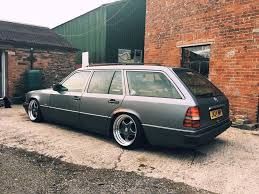 mercedes w124 s124 300td auto coilovers split rims stance lowered