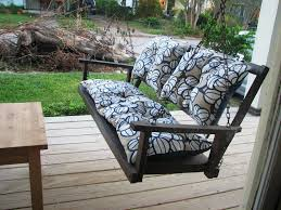 Porch Swing With Cushions Decorative Comfortable Porch Swing Cushions U2014 Completing Your Home