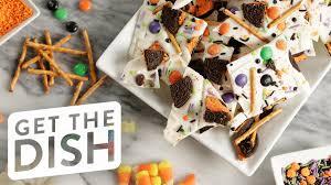 halloween chocolate bark get the dish youtube