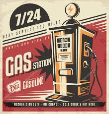 pompe essence vintage de l u0027affiche rétro pour pompe à essence u2014 image vectorielle 84666456