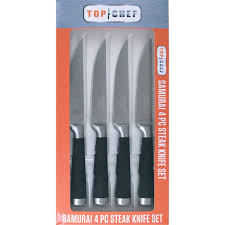 top kitchen knives top chef 4 piece steak knife set samurai