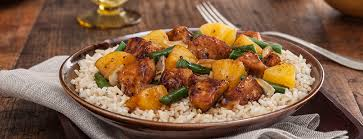Main Dish Rice Recipes - black pepper chicken and pineapple entree main dish recipes