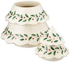 amazon com lenox holiday tree cookie jar ivory kitchen u0026 dining