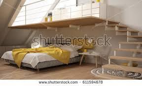 loft mezzanine scandinavian minimalist bedroom gary stock