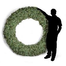 84 in pre lit commercial grade wreath walmart