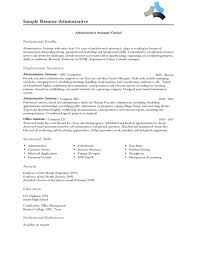 Best Resume For Administrative Assistant by Fantastical Professional Profile Resume Examples 10 Profile On