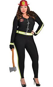 Size Nurse Halloween Costumes Fired Firefighter Costume Size Costumes
