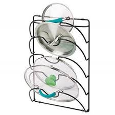 kitchen cabinet door pot and pan lid rack organizer mdesign metal wire pot and pan lid rack organizer for