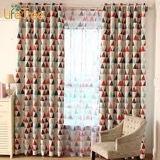 Custom Blackout Drapes Aliexpress Com Buy Triangles Printed Modern Blackout Curtains