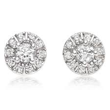 diamond earrings uk 9ct white gold diamond stud earrings 0000619 beaverbrooks the