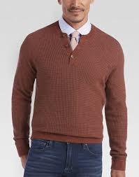 mens sweaters joseph abboud cinnamon henley sweater s sweaters s