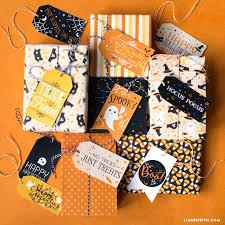 printable halloween gift tags and gift wrap lia griffith