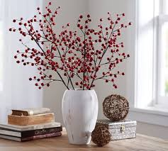 pre lit branches lit berry branch pottery barn