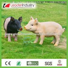 china polyresin pig garden ornaments various colors and deigns