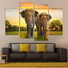 Living Room Wall Art And Decor Online Get Cheap Elephant Wall Art Aliexpress Com Alibaba Group