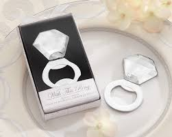 diamond bottle opener bling ring bridal shower favor by kate aspen