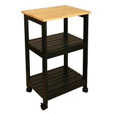 origami folding kitchen island cart black hayneedle