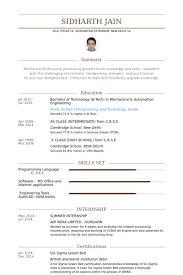 Internship Resume Examples by Summer Internship Cv örneği Visualcv özgeçmiş örnekleri Veritabanı