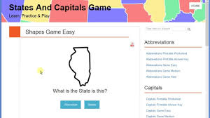 Usa States Map Quiz by 50 Us States Shapes Quiz Game U0026 List Youtube