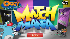 cartoon network games oggy cockroaches match mania