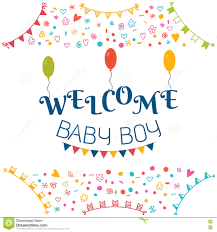 baby shower greeting card for boy royalty free stock photos