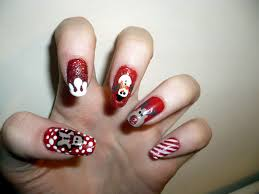 easy christmas nail art designs ideas 2014 step by step easy