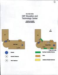 Penn State Campuses Map by Accessibility Maps And Parking Penn State Dubois