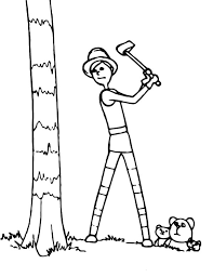 dr seuss lorax onceler cut tree coloring pages