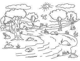 coloring pages for landscapes printable scenery coloring pages landscape coloring pages outdoor