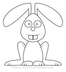 drawing a rabbit cartoon coloring home
