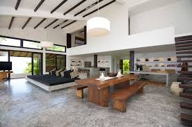 Concrete Home Designs Tropical Beach Villa