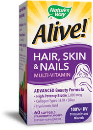 alive hair skin u0026 nails multi vitamin 60 softgels made by
