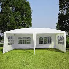 12 X 20 Canopy Tent by Outsunny 10 U0027 X 20 U0027 Gazebo Canopy Party Tent W 4 Removable Window