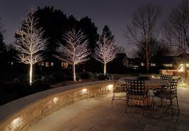 retaining wall lights under cap deck patio