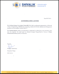 Authority Letter For Legal Representation by Aplus Visions Online U2013 Education Consultant