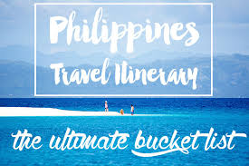 travel itinerary images Philippines travel itinerary the ultimate bucket list jpg